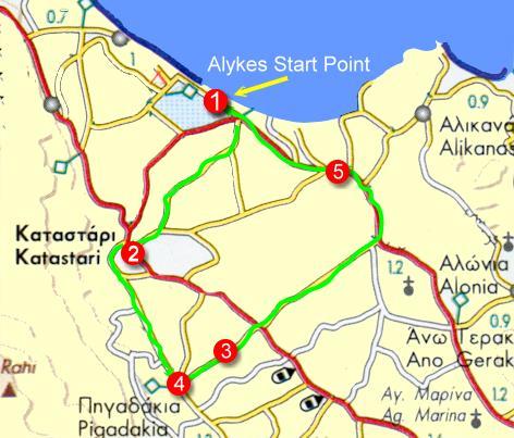 Tourist Train The route Alykes Zakynthos Greece